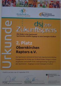 DSJ Zukunftspreis 2019 2. Platz